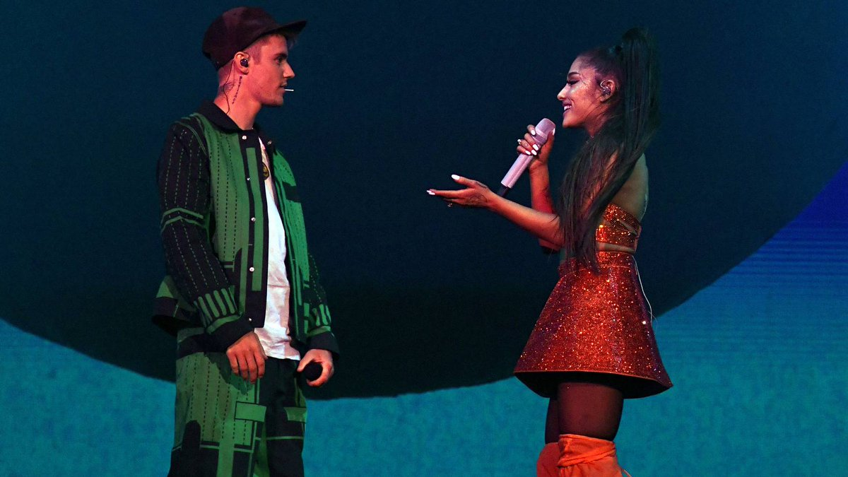 ICYMI -- @ArianaGrande brought out @JustinBieber for #Arichella weekend two:  https:// on.mtv.com/2UPuASf      <br>http://pic.twitter.com/ElYYdaaoXv