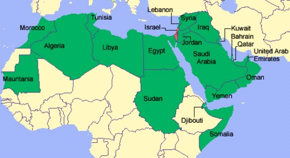 Dear Arabs. You have all the green. We have the little red dot. And u call us colonizers? B4 the 7 century Arabs were only in Arabia! All the Middle East was Greek and Christian with Jews living in judea. You are the colonizers! <br>http://pic.twitter.com/DyQ42YmP2m