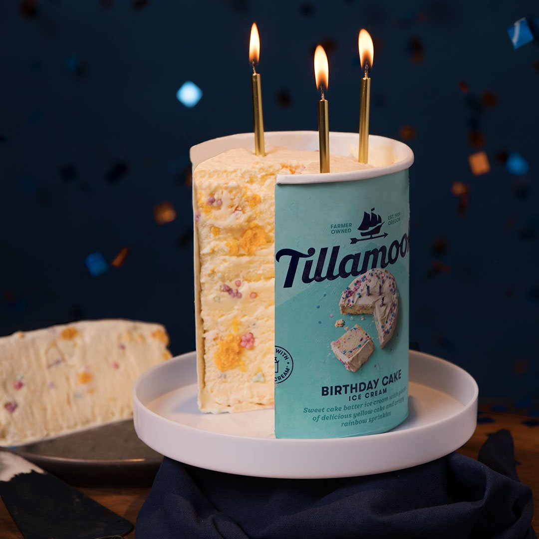 Tillamook On Twitter SURPRISE Our New Birthday Cake Ice
