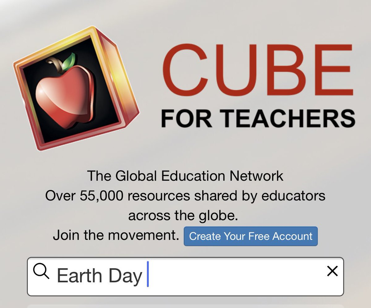 Looking for #EarthDay resources? http://cubeforteachers.com now has over 55,000 teaching resources shared by educators. #edchat #k12
