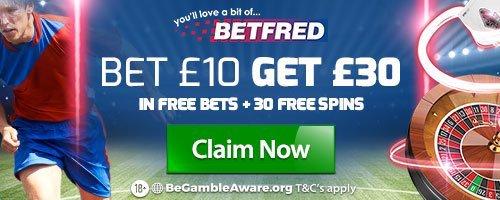 #befred offering #bet 10 get 30  > http://bit.ly/BETFREDdouble bookiebashing acca #twitter92 bookies