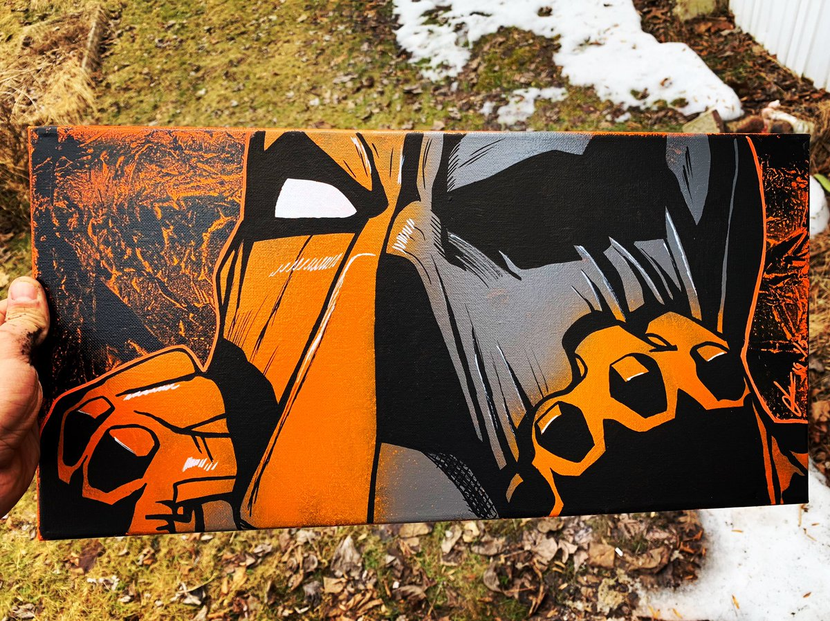 10x20 #Deathstroke canvas. 1/5 available now. Send me a DM to grab one  #batman #dccomics #dc #superman #justiceleague #wonderwoman #dceu #aquaman #sladewilson #comics #cosplay #theflash #cyborg #harleyquinn #dcuniverse #redhood #robin #greenarrow #joker #deadpool