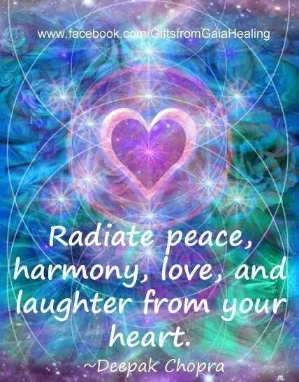 Radiate #peace, #harmony, #love, and laughter from your #heart  #ThinkBIGSundayWithMarsha  #InspireThemRetweetTuesday  #JoyTrain #IQRTG #Love #LightUpTheLove #LUTL #TuesdayThoughts #GoldenHearts #ShineOn #ChooseLove #FamilyTRAIN #StarFishClub #IAmChoosingLove