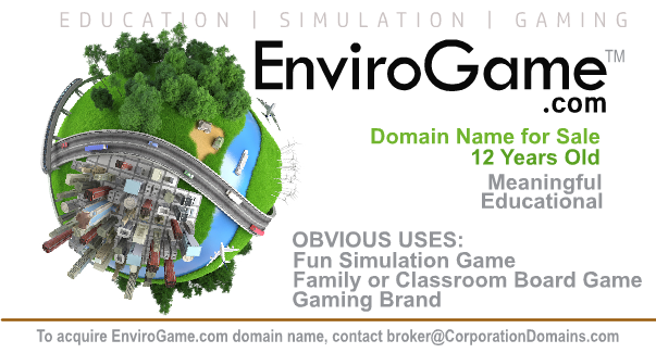 Happy #EarthDay today! Envirogame·com #DomainName for sale. Create an #educational #game to teach about #alternativeenergy #Green  #Environment #Biodiesel #fuel #energy #RenewableEnergy #renewables  #gaming #games #earth #WorldEarthDay #WorldEarthDay2019 #NationalEarthDay