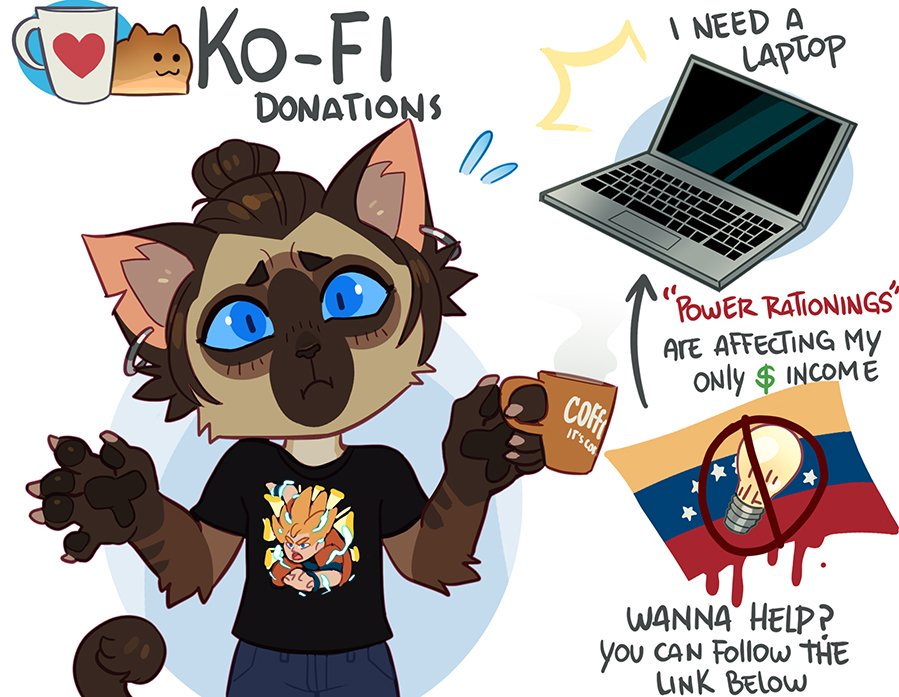 Ko-fi Donation / Comms Thread  As some of u already know, I&#39;ve been passing for some serious electrical issues here where I live (Venezuela) and is heavily affecting me as an full-time artist..Any $$ would help a ton! (+ info below)  https:// ko-fi.com/nexsix  &nbsp;  <br>http://pic.twitter.com/8aduRkI4X2