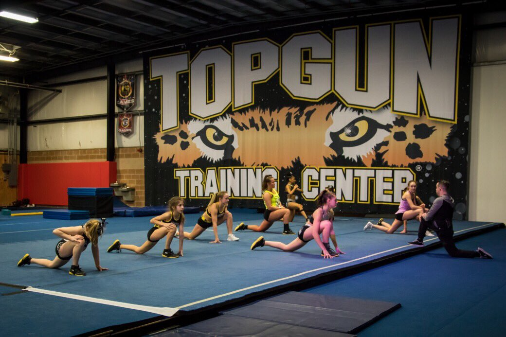 Join us for a tumbling class in the Top Gun Training Center! Give us a call and your first class is free! . . #TGJags25 #OAFAAF #TGOH #TopGun #kidsactivities #youthsports #allstar #cheer #ohio #CLE #cleveland #northeastohio #cheerleading