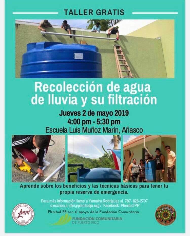 Cuídala como cuida ella de ti... si estás en #Añasco o en el #Oeste de #PuertoRico este taller puede interesarte. #Conservation
