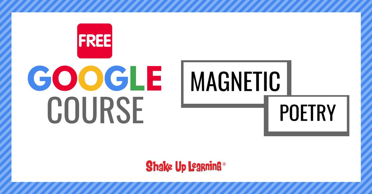 I have a FREE Mini-Course: How to Create Magnetic Poetry with Google Slides and Google Drawings!  Learn super cool Google tricks and how to create interactive learning!  https://shakeuplearning.teachable.com/p/magnetic-poetry … #edtech #edchat