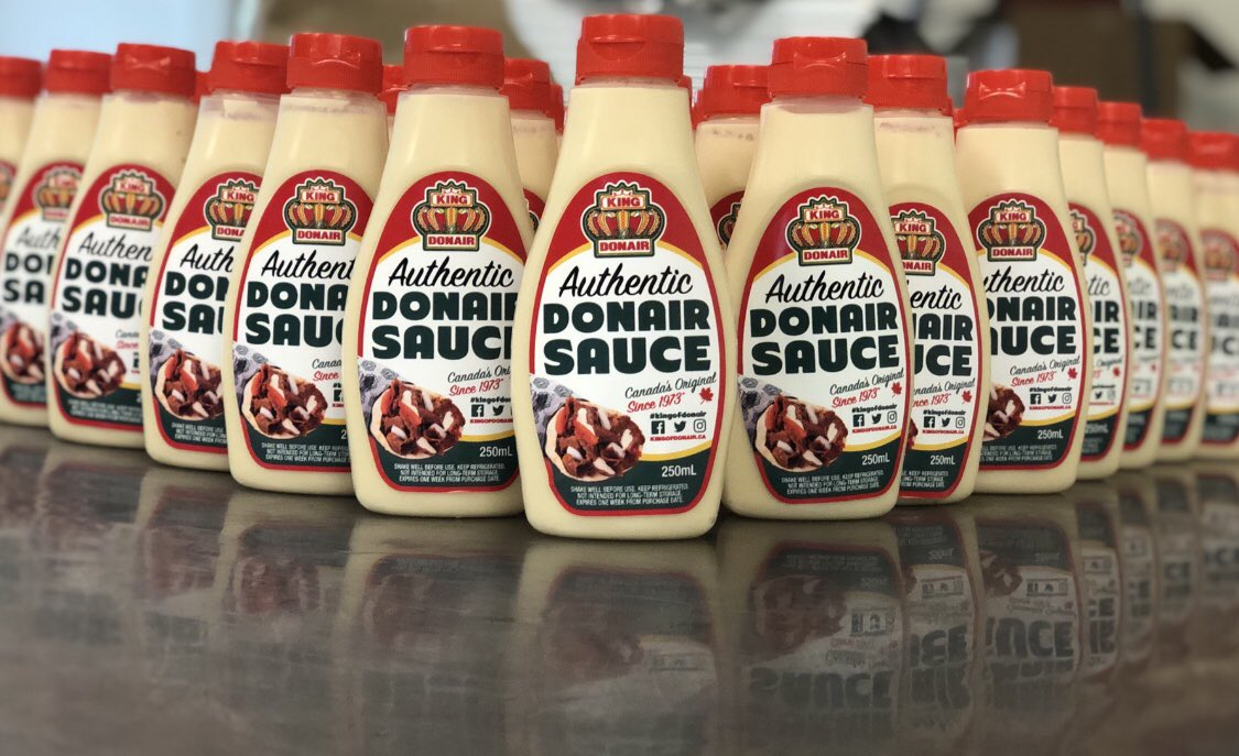 You want it, we got it. You want it, we got it. You like our sauce? Gee thanks, just made it. #7rings Donair sauce made in house erryday <br>http://pic.twitter.com/ltZwZ1nQTb &ndash; à King of Donair