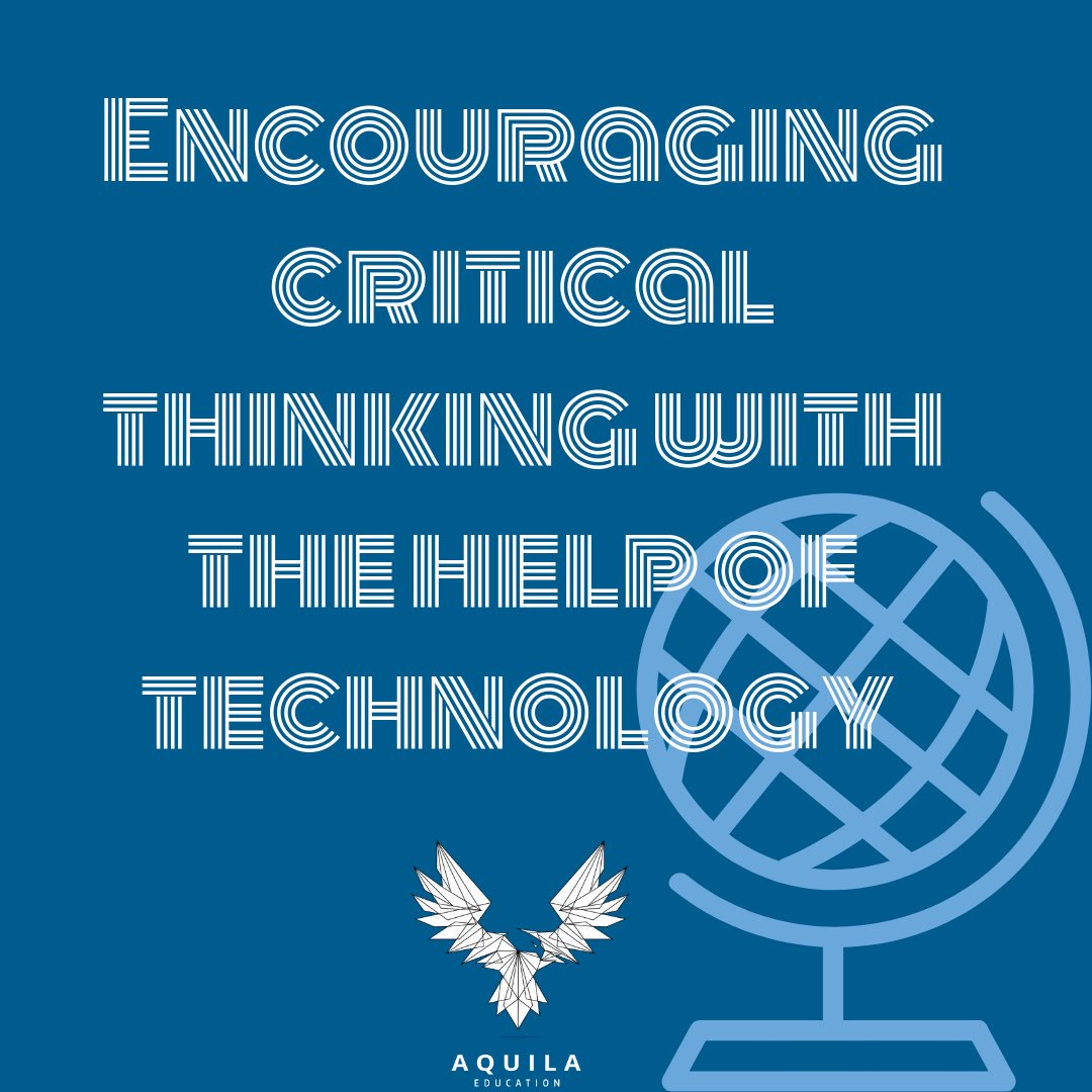 New post on our #blog @AquilaEducation. Today's topic looks at the use of #EdTech to help encourage critical thinking.   http://bit.ly/2ZnLczf   #EdChatEU #EdBlog #ARVRinEdu #EdChat