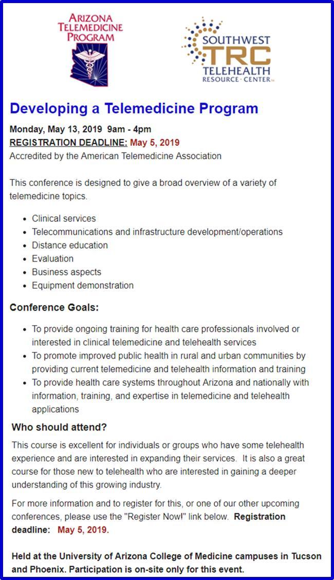 Arizona Telemedicine Program (@UA_ATP) | Twitter