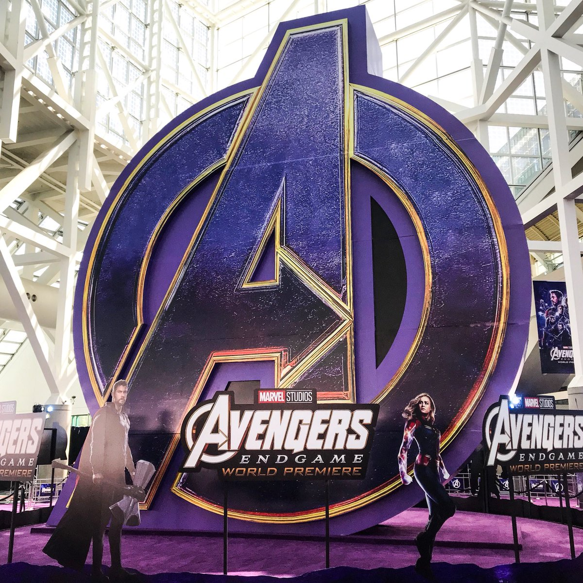 We're here at the World Premiere of Marvel Studios' #AvengersEndgame in L.A.! Follow along here and on our Instagram Stories for a behind-the-scenes look, and tune in to our livestream at 4:30pm PT: http://www.marvel.com/endgamepremiere