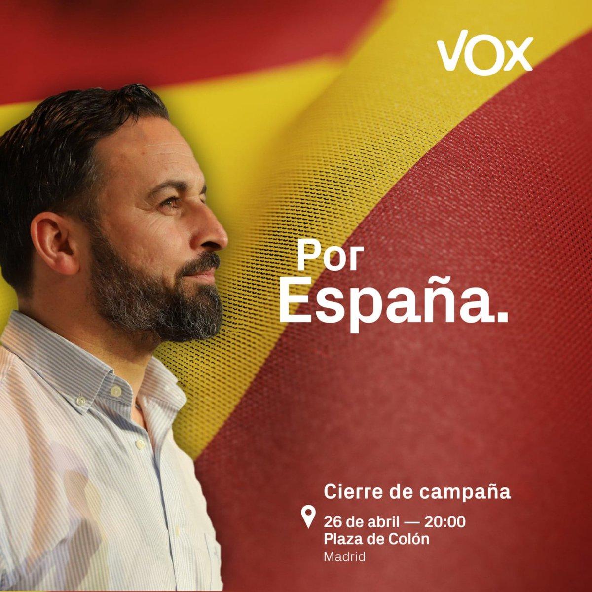 #ElVerdaderoDebate.sera este 26 de abril.gran cierre de campaña de nuestro presidente .Santiago Abascal  #PorEspaña  #VoxExtremaNecesidad  #UneteAlaResiistencia #UneteAVox💚💚💚 https://t.co/OviNwnagIu