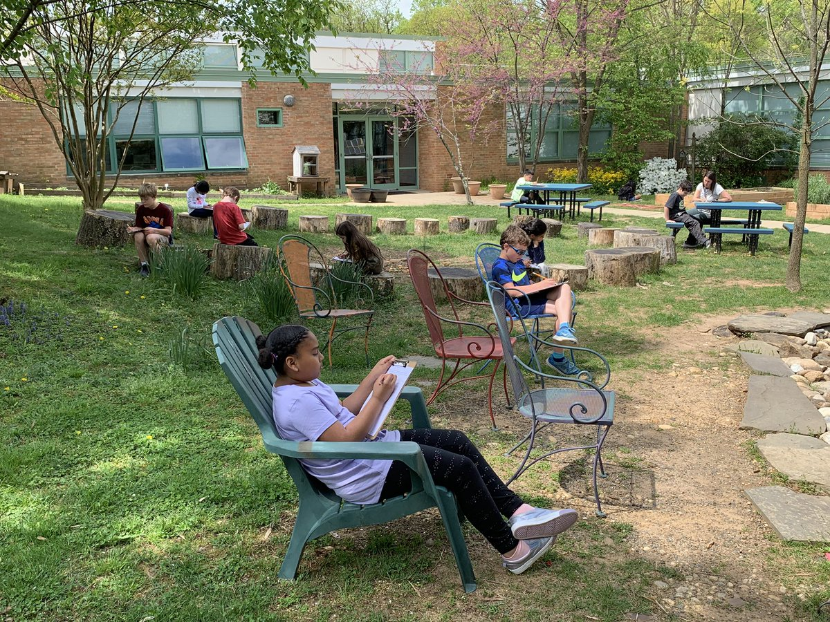 We celebrated Earth Day with a read aloud followed by a reflection in the courtyard. We brainstormed ideas on how to preserve our beautiful outdoor spaces. <a target='_blank' href='http://twitter.com/CampbellAPS'>@CampbellAPS</a> <a target='_blank' href='https://t.co/sbOFoLQZ9p'>https://t.co/sbOFoLQZ9p</a>
