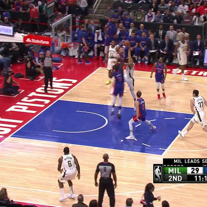 Giannis Antetokounmpo's Ridiculous Block Tonight Is Going Viral