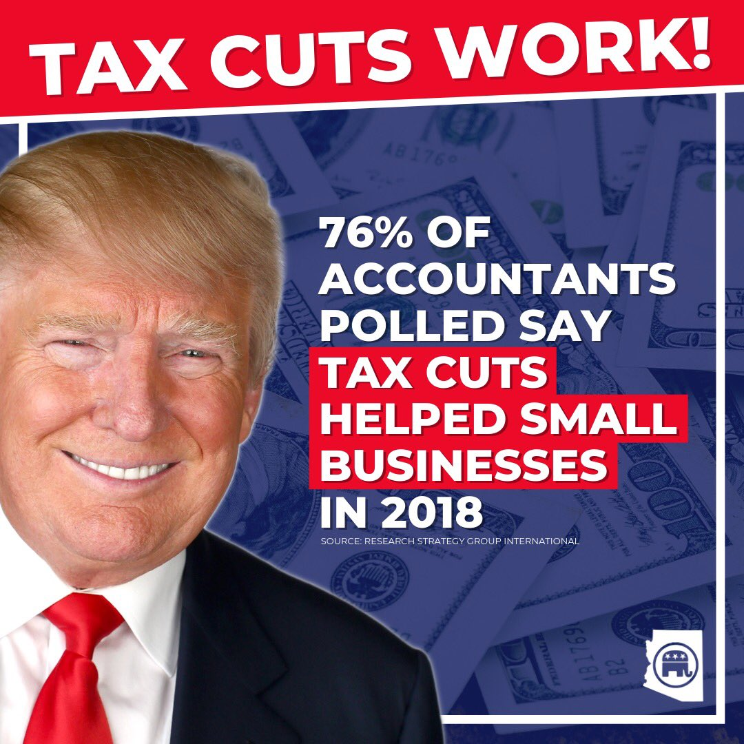 You better believe tax cuts work! Republicans believe you should keep more of your own money 💵💵💵 #VoteRepublican #TaxCuts #TCJA