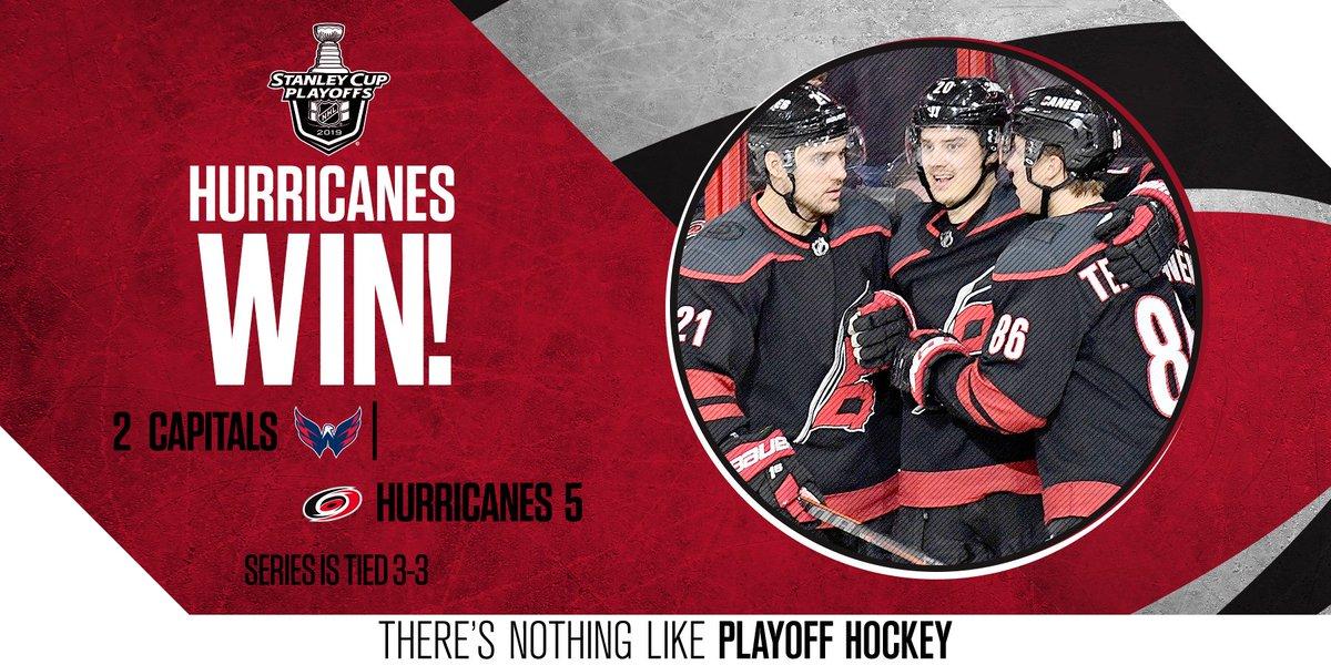 Hurricanes Push Caps to Game 7