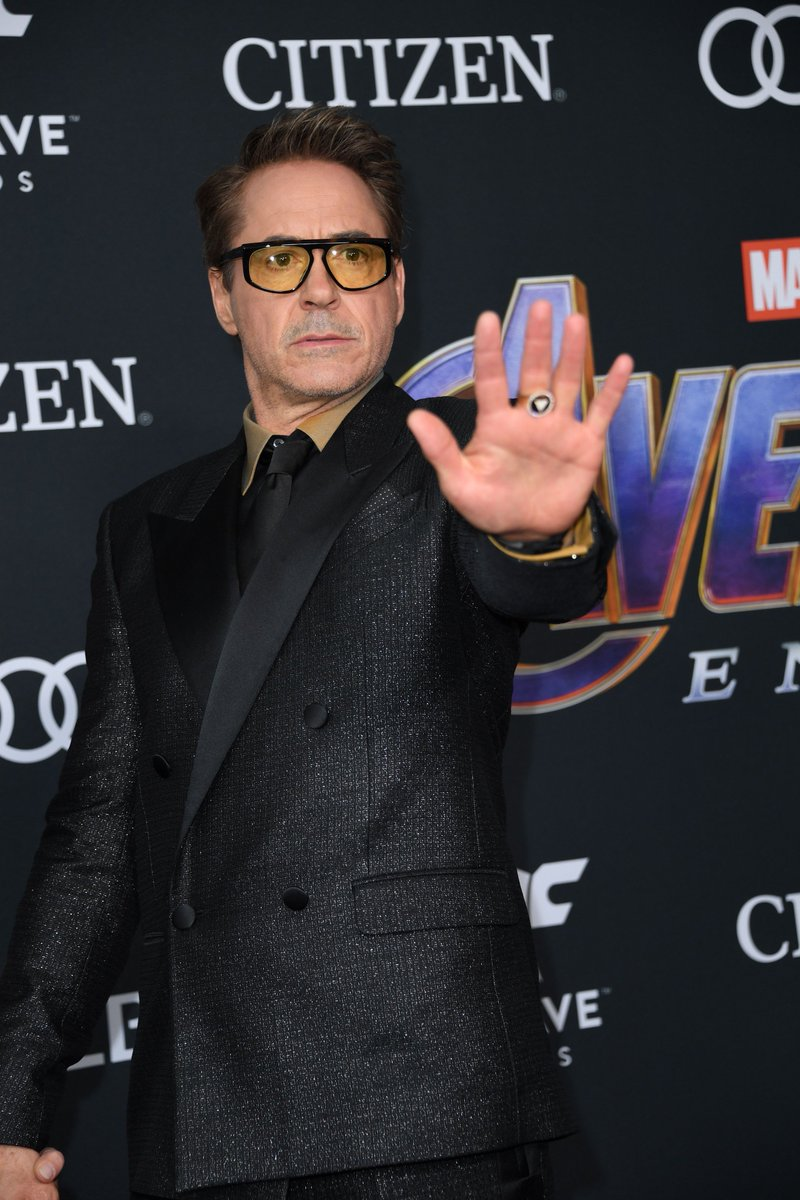 Mr. @RobertDowneyJr: From a cave with a box of scraps to the Los Angeles Convention Center for the world premiere of a culmination event of a 22-film saga... <br>http://pic.twitter.com/XElhZfB8rP