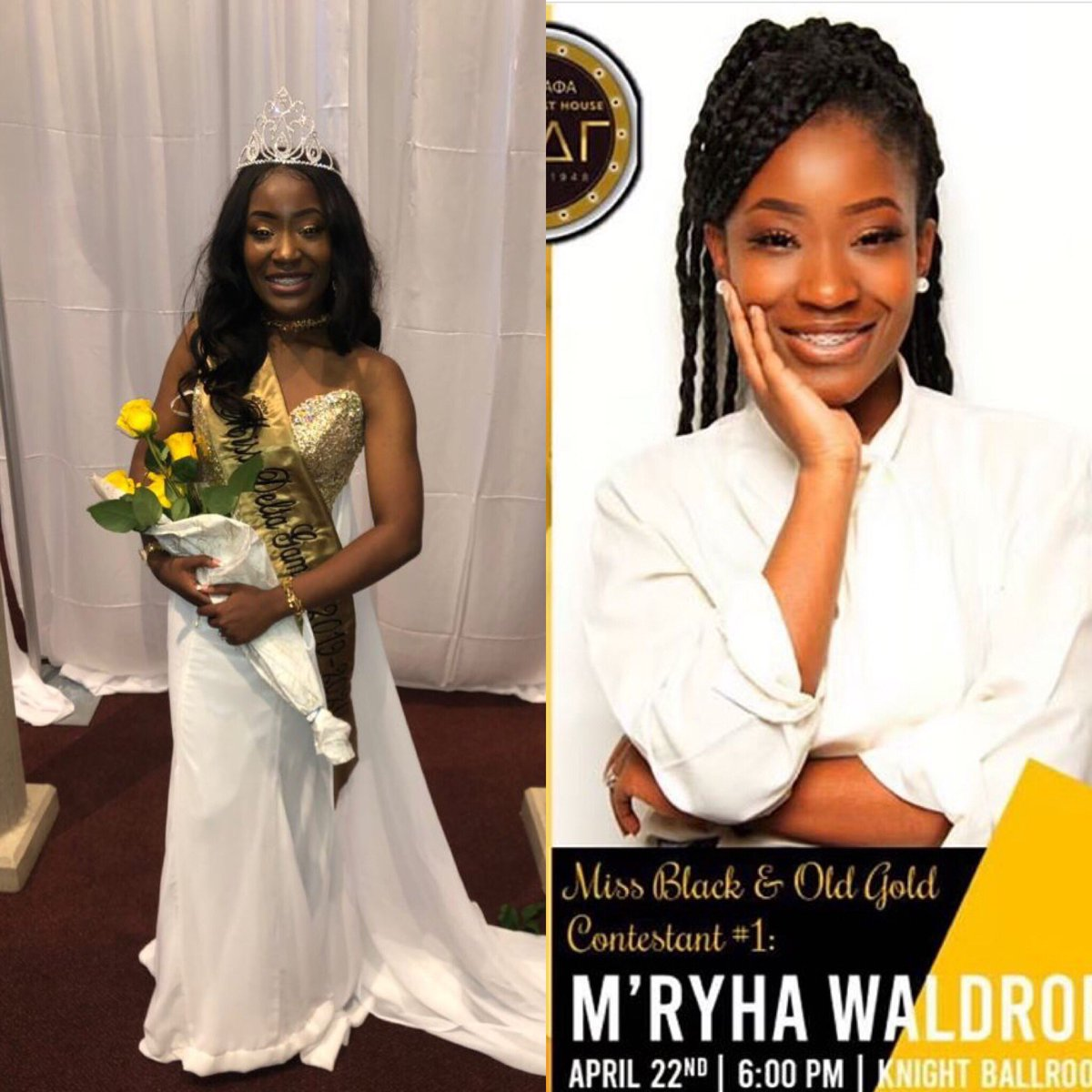 Congratulations to Warden M'Rhya Waldrop on winning Miss Delta Gamma 2019-2020  We are so proud of you Queen.  <br>http://pic.twitter.com/CIZORJdjh3