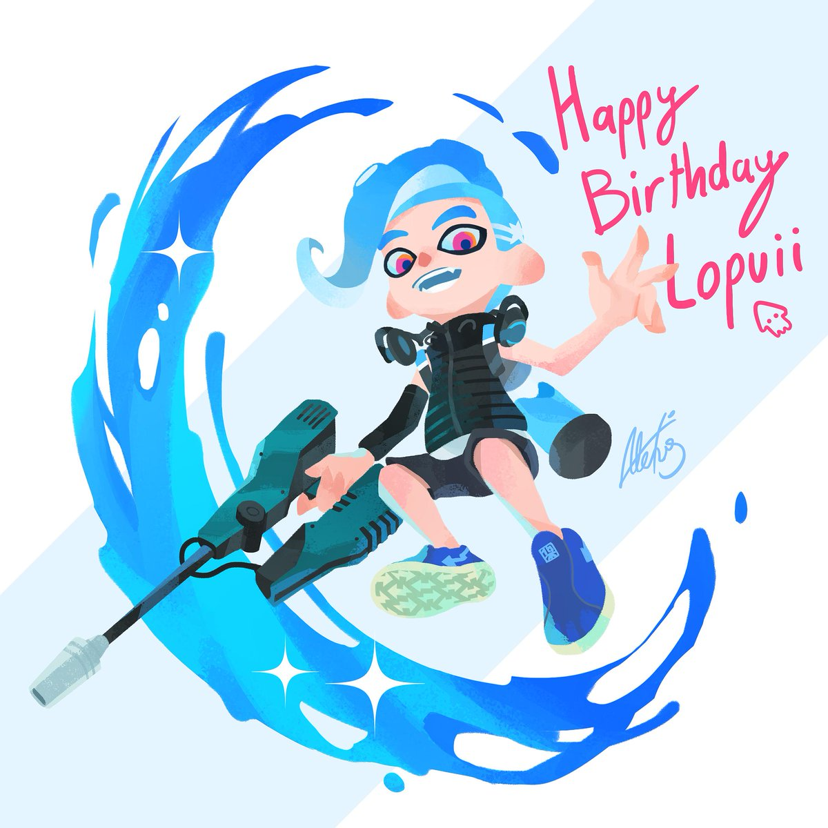 It&#39;s a special day for a special someone! @LopuiiArt HAPPY BIRTHDAY #Splatoon #Splatoon2 #スプラトゥーン #スプラトゥーン2<br>http://pic.twitter.com/HAWQFUiMB3
