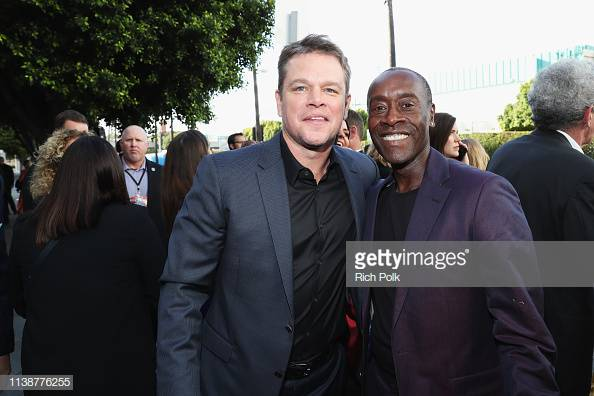 Getty Images Vip S Tweet Matt Damon And Don Cheadle Together