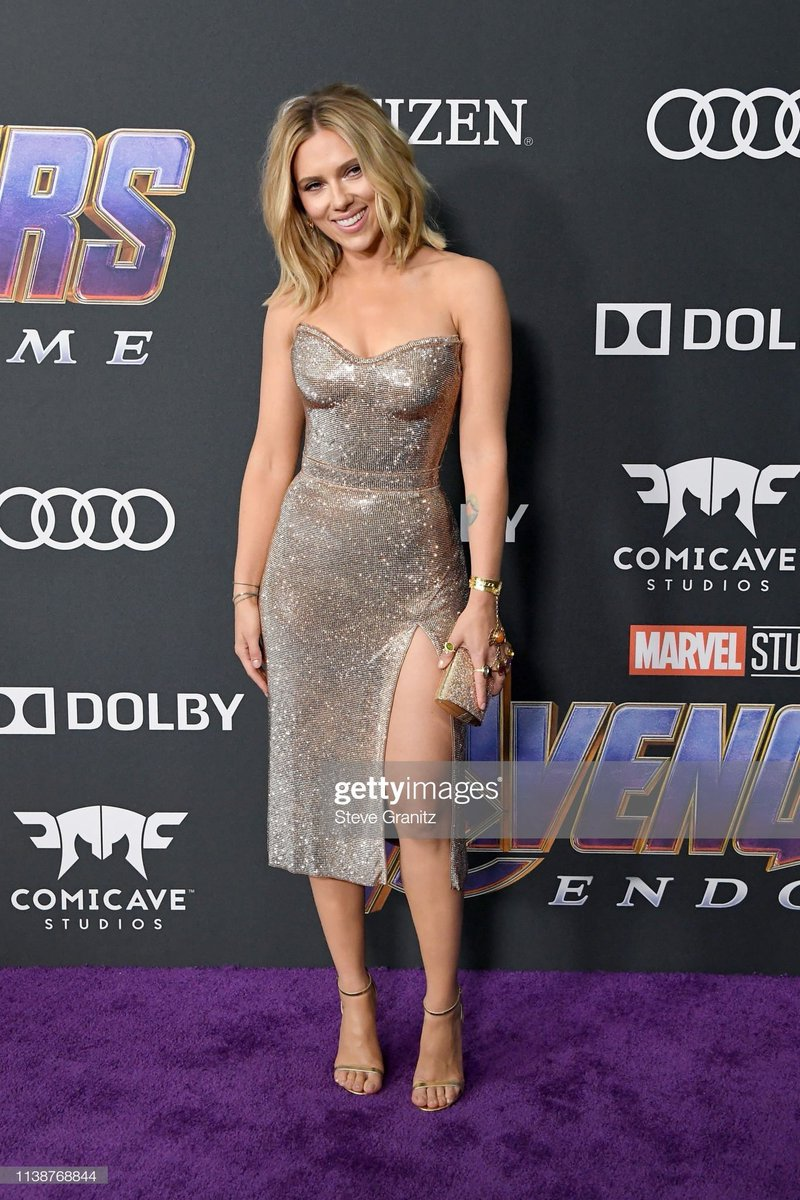 Scarlet Johansson at the end game premiere that is all.