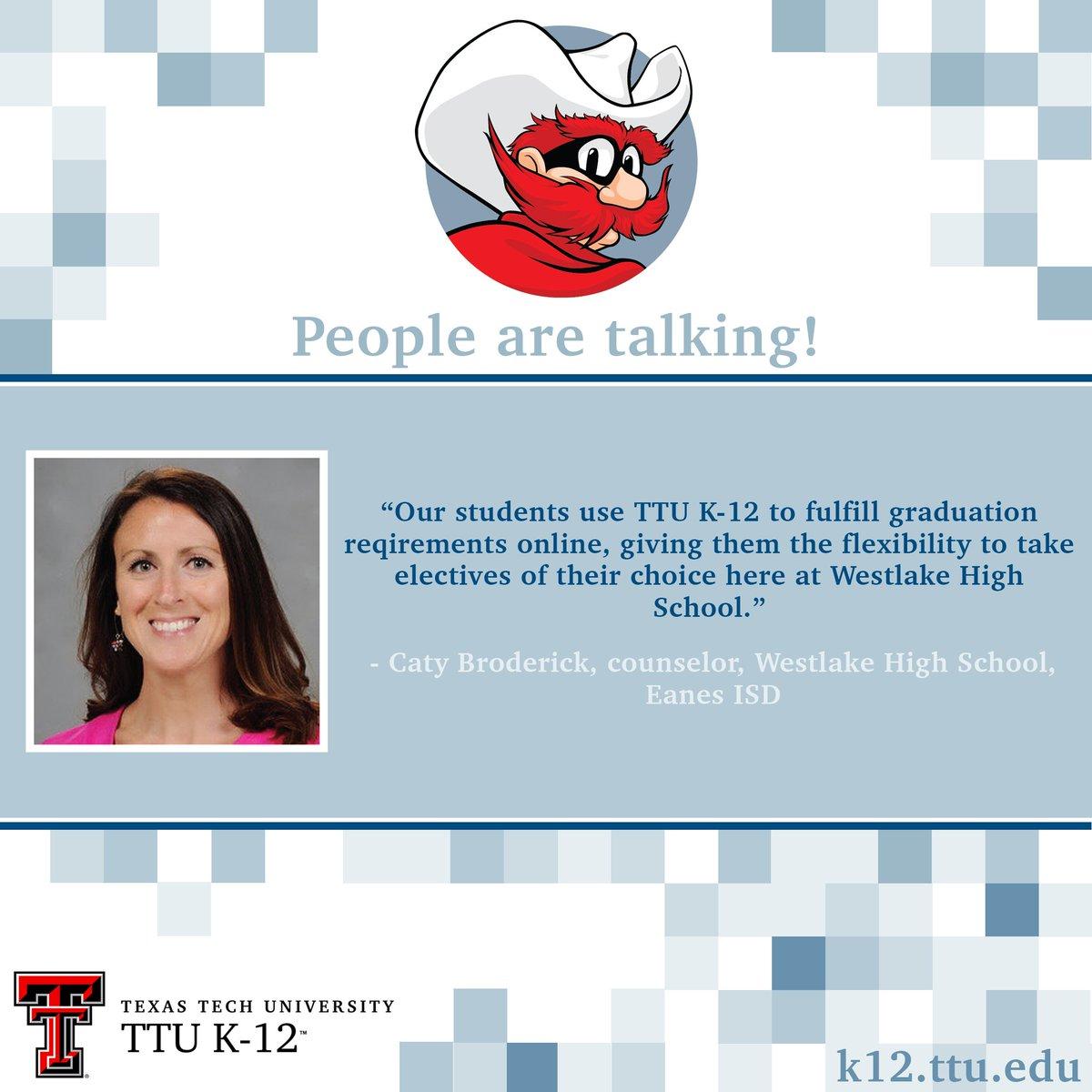 Texas Tech Online High School >> Ttu K 12 Texastechk12 Twitter