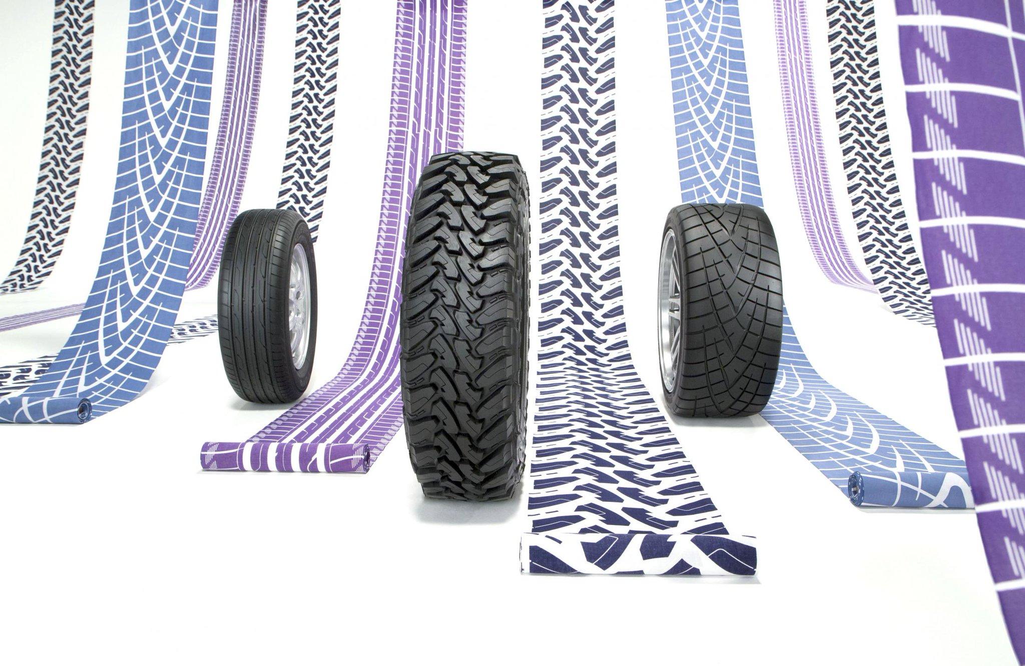 TOYO TIRES(トーヨータイヤ)が作ったタイヤ柄の着物、めっちゃよくないですか…。