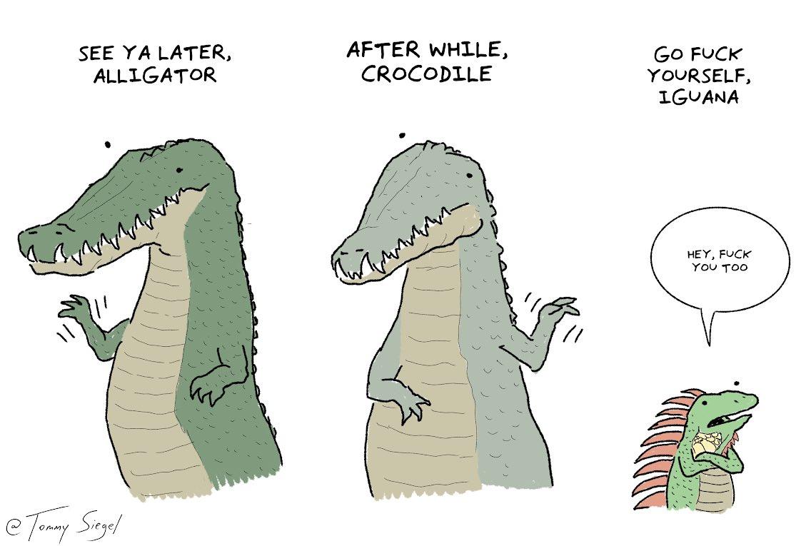 See ya later crocodile