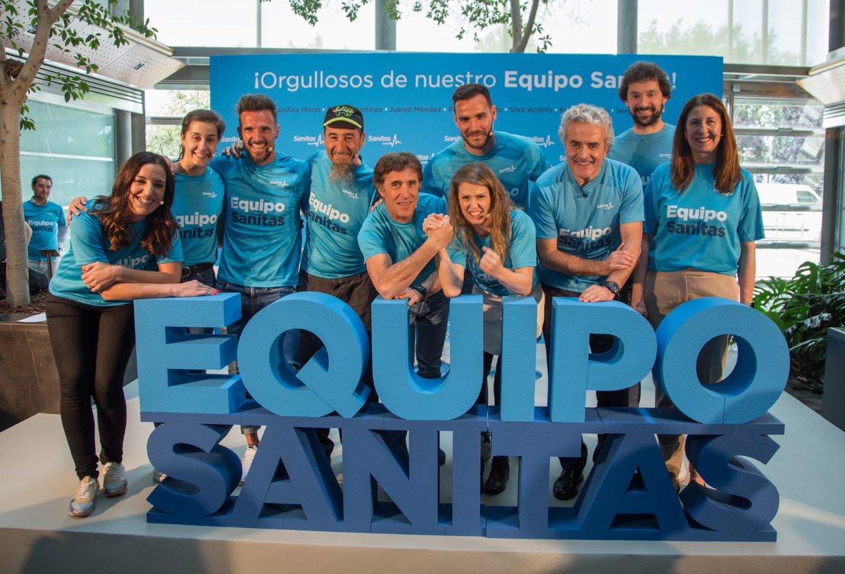 Image for the Tweet beginning: Orgulloso de presentaros al #EquipoSanitas!!