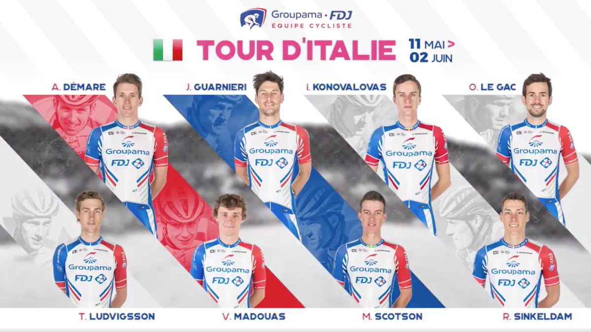 Looking forward to lining up for my first grand tour at the @giroditalia with @GroupamaFDJ and what a group of guys to do it with!!