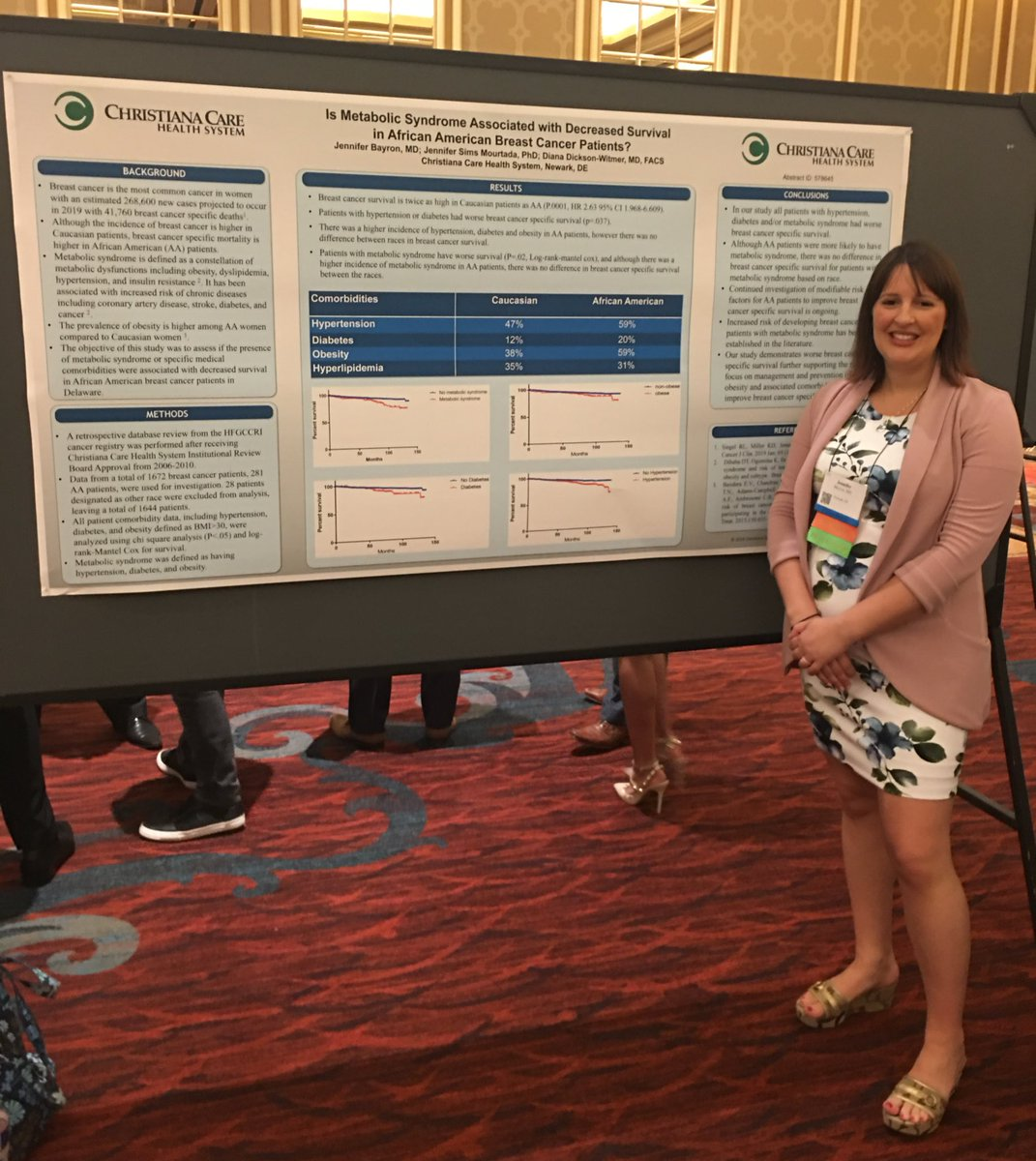 Dr Bayron presenting at #ASBrS19 about metabolic syndrome and survival in African American patients @ASBrS. Congrats! #surgtweeting #surgicalresearch #surgresidency
