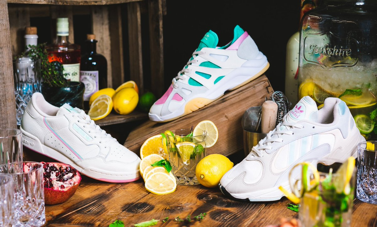 0587b694c3c8f The adidas Arizona Ice Tea-themed sneaker pack that includes the  Continental 80