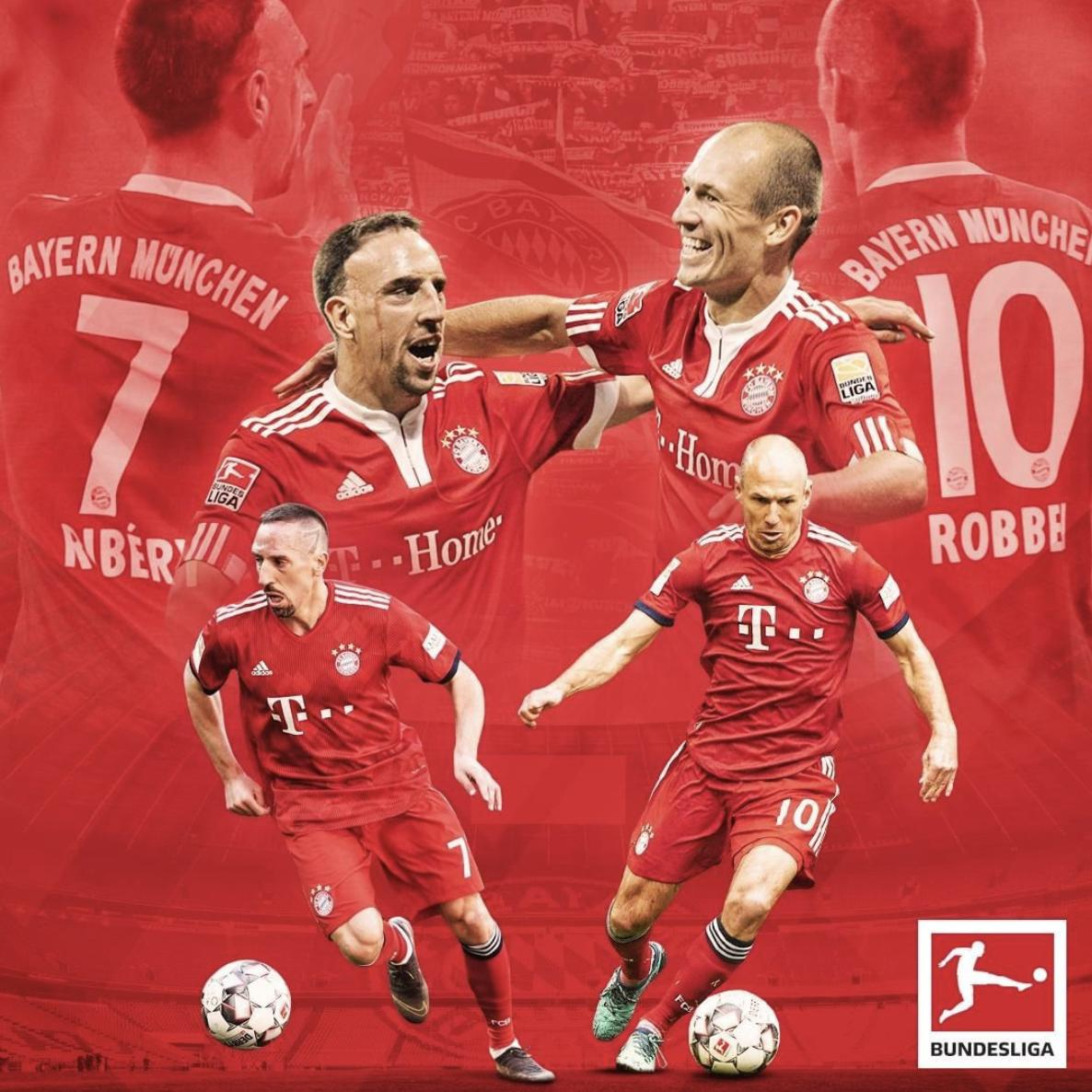 """Thanks for the memories, """"Robbery"""" ❤️  Bayern Munich announce Franck Ribery will follow Arjen Robben and leave the club at the end of the season."""