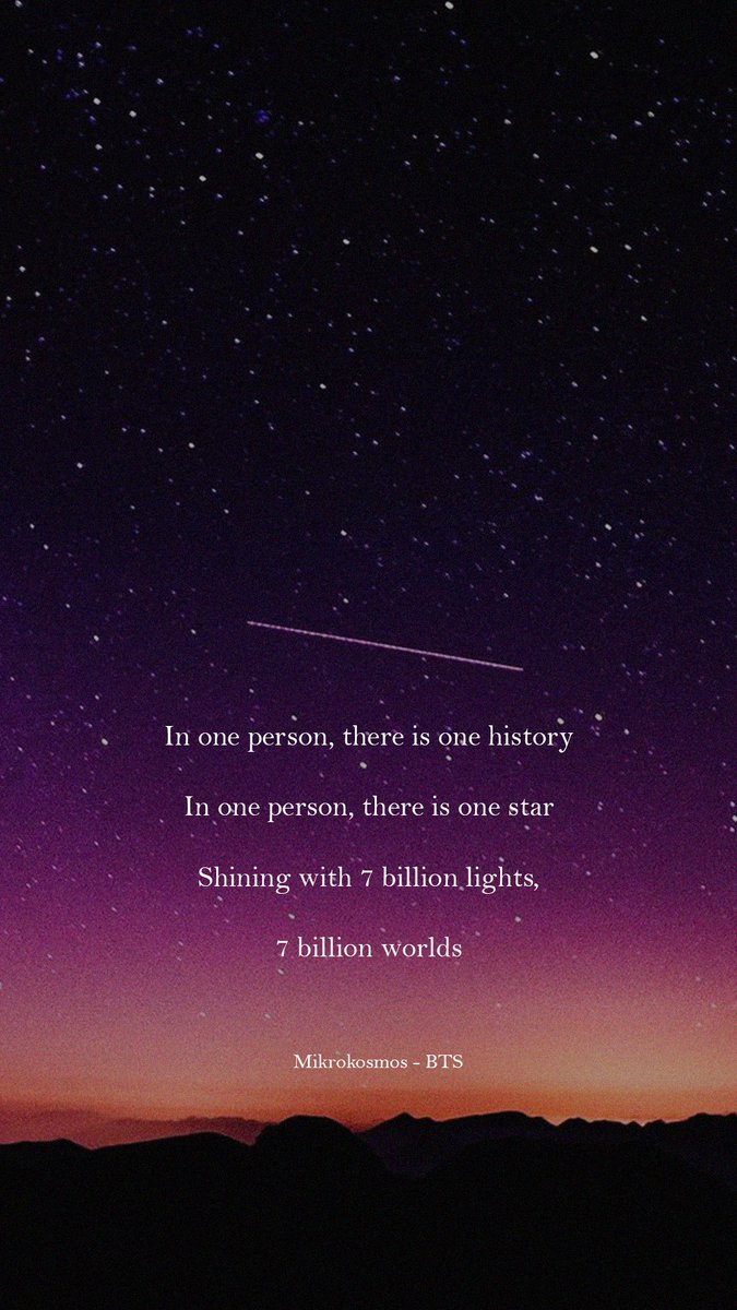 Bts Lyrics On Twitter 7 Billions Worlds Mikrokosmos Bts