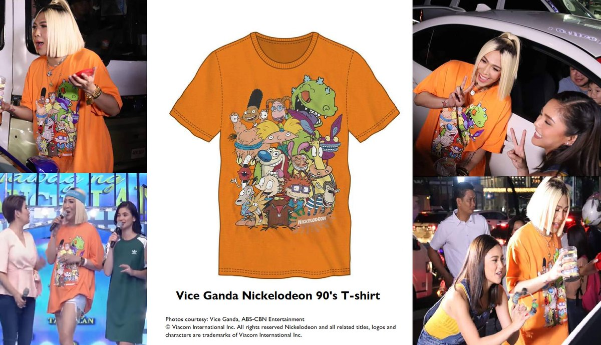 41e4ae9b7d08 Vice Ganda's 90's Nickelodeon T-shirt seen on ABS-CBN shows, It's Showtime  and Gandang Gabi Vice. Courtesy: ABS-CBN, Vice Ganda © Viacom #Showtime ...
