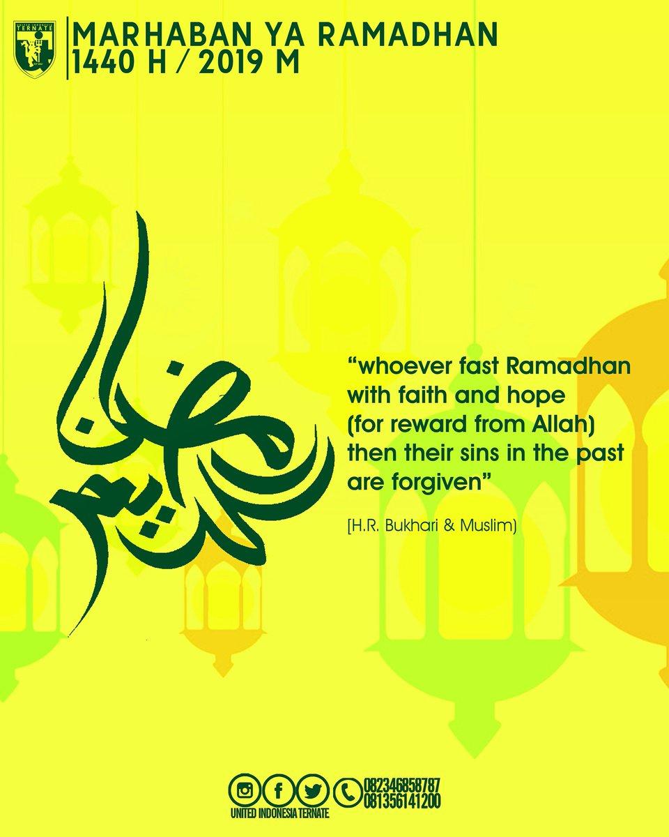 Selamat menunaikan ibadah di bulan suci ramadhan 1440 H bagi seluruh rekan2 yang menjalankannya. Insya Allah amal ibadah kita diterima Allah SWT. Amin.  #UITernate #ternate #unitedindonesia #utdindonesia #unitedtogether #manutd #manchesterunited #mufc #forunited #UnityForUnited
