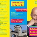 Image for the Tweet beginning: Bernd #Engelhardt kandidiert als #Bürgermeister