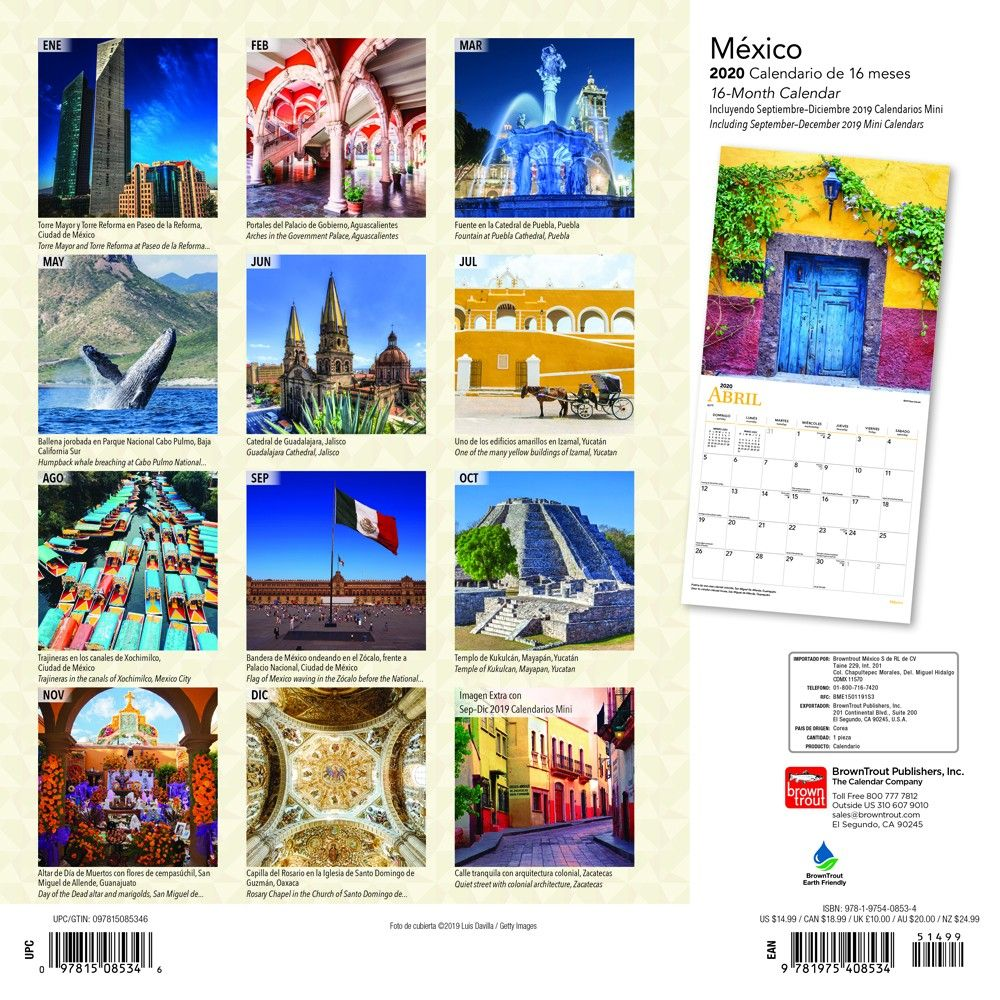 Calendario 1978 Mexico.Browntrout Petcalendars Twitter