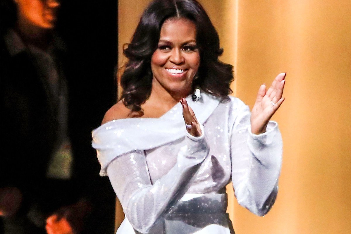 #MichelleObama always sets the stage for happiness, smiles, and joy. #ForeverMyFirstLady