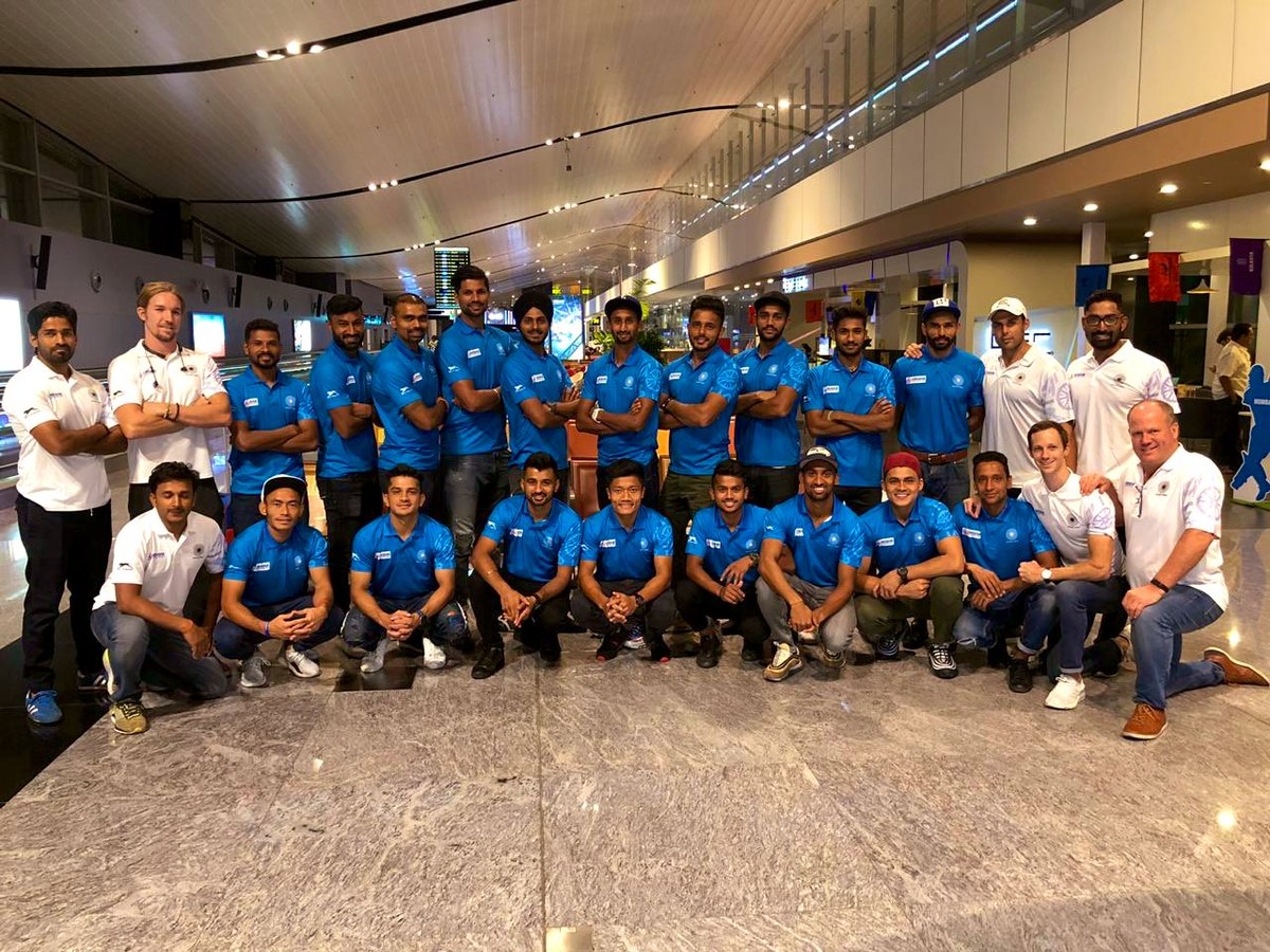 Prior to the Olympic qualifiers .... Flying to Australia for' 5 'test matches  against @HockeyAustralia  , #learn #sharp #execute #practice #testseries #hockey #TeamIndia #hockeyindia @TheHockeyIndia
