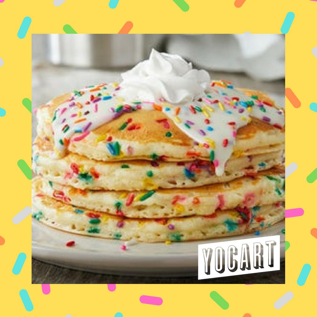 Brunch Delivered! #funfetti #pancakes #brunch #tuscaloosa #fooddelivery #yocart🥞