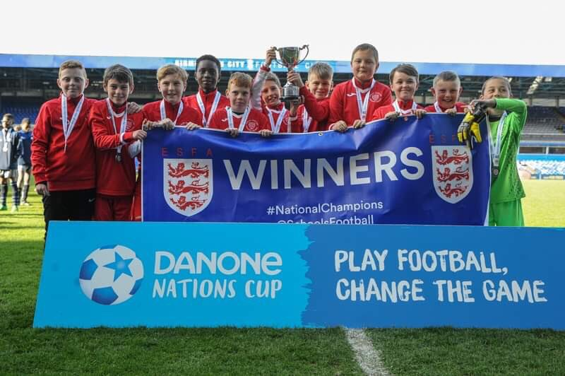 Image result for football danone national school winners english martyrs