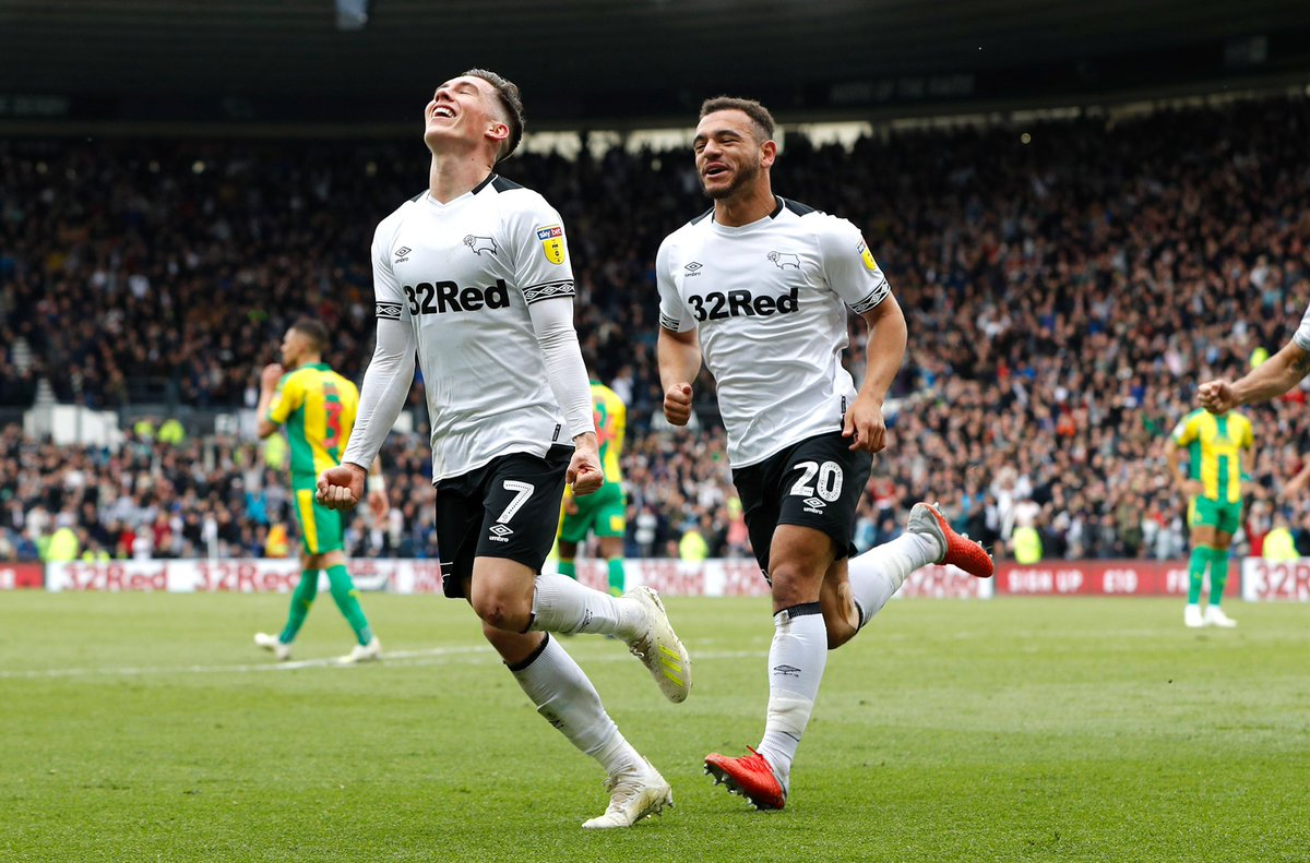 Play offs secured🤪 great performance from the boys to get it done🙌🏼 brilliant atmosphere at pride park to👏🏼🐏 @dcfcofficial