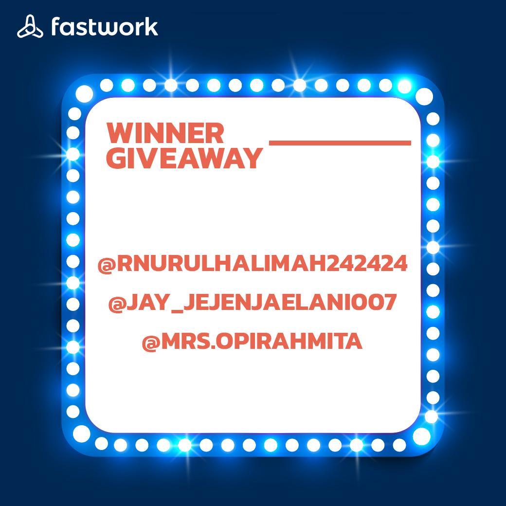 Inilah dia pemenang dari Fastwork April 30 Giveaway (Merchandise Fastwork): @rnurulhalimah242424 @jay_jejenjaelani007 @mrs.opirahmita • #FastworkIndonesia #cepetgaribet #Fastwork https://t.co/oD8m8ZSsI6