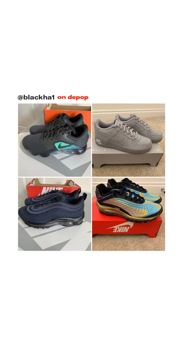 1042a5875ac6  depop  trainers  vapormax  nike  AirForce  airmax97   deluxepic.twitter.com KqHDFWqIUt