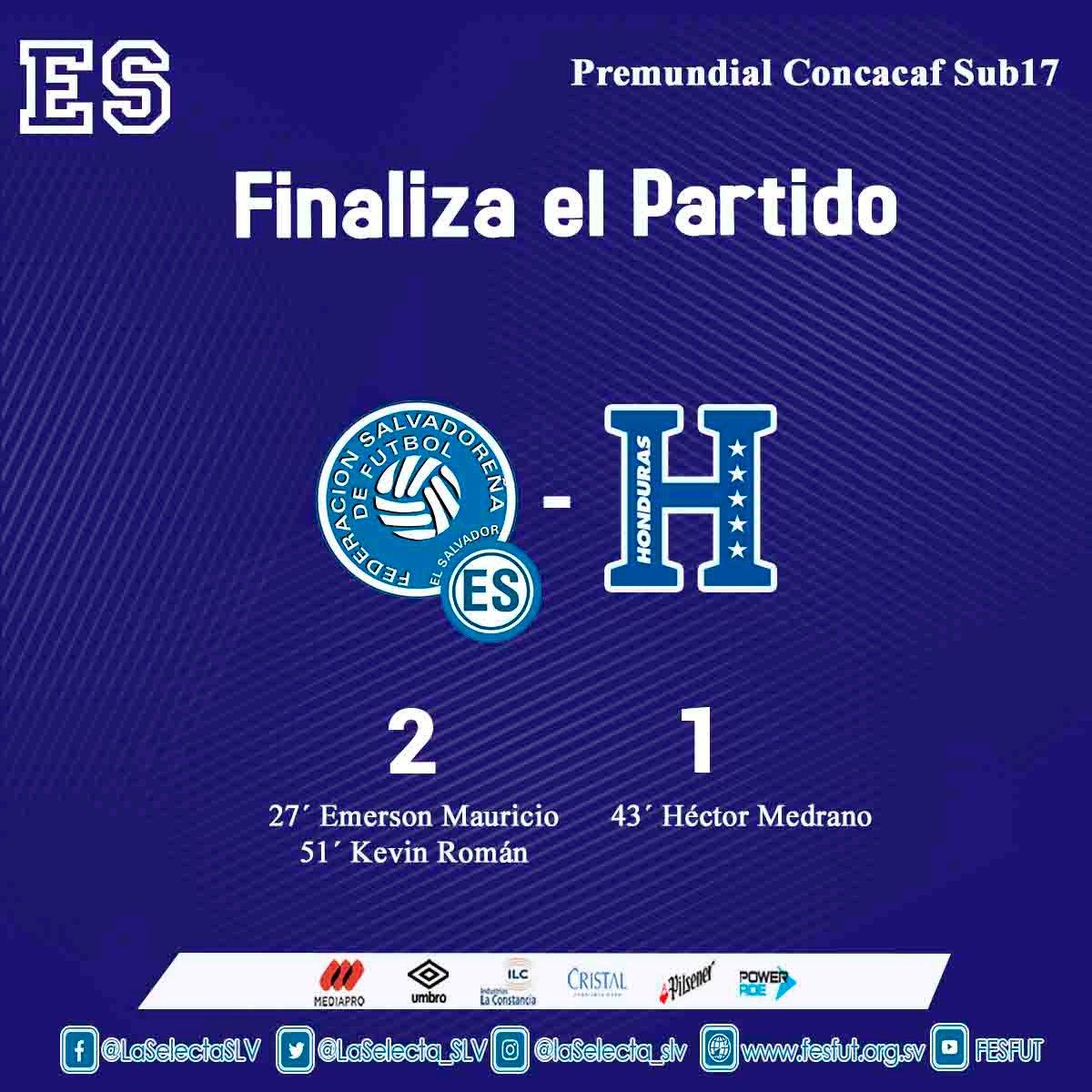 Sub17 Campeonato CONCACAF 2019 [Copa Mundo Brasil 2019] El Salvador 2 Honduras 1. D51d4kdXkAcAE5i
