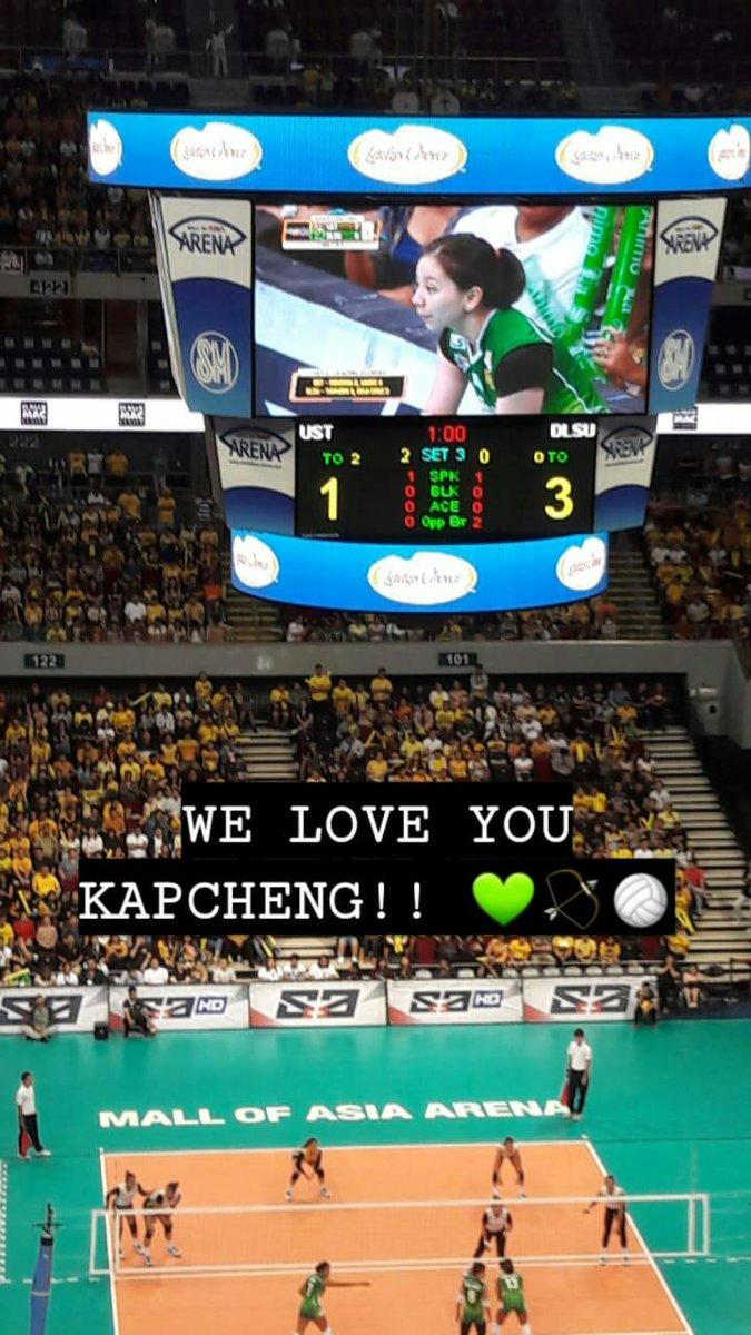 thankyou kapcheng @itsmedescheng !!! the lasallian community loves you always!! 💚🏐🏹 Animo!! #FieryGreenFlame #LetsDoDES