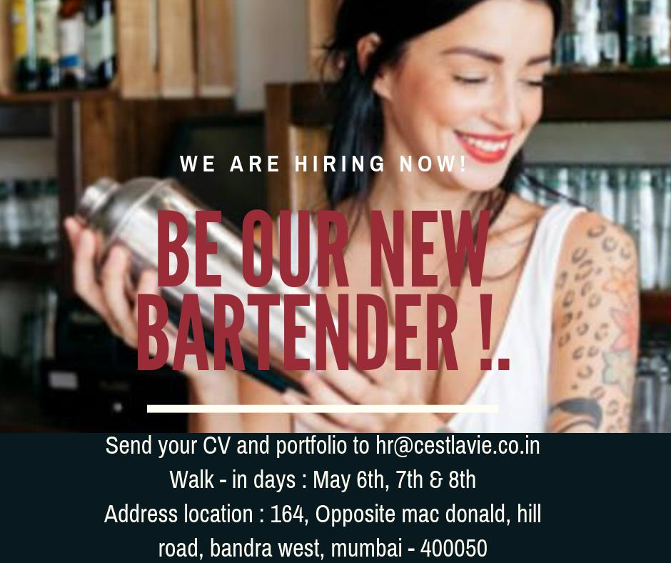 We are hiring now ! Join our crew of amazing bartenders ! Send in your cv & port folio now ! . . . . #hiring #jobsearch #jobhiring #bartender #bartenderjob #bartenderjobs #bartenderlife #bartenders #mumbaibartenders #mumbaijobs #bandrajobs #wearehiringnow #interviews #JobSearch