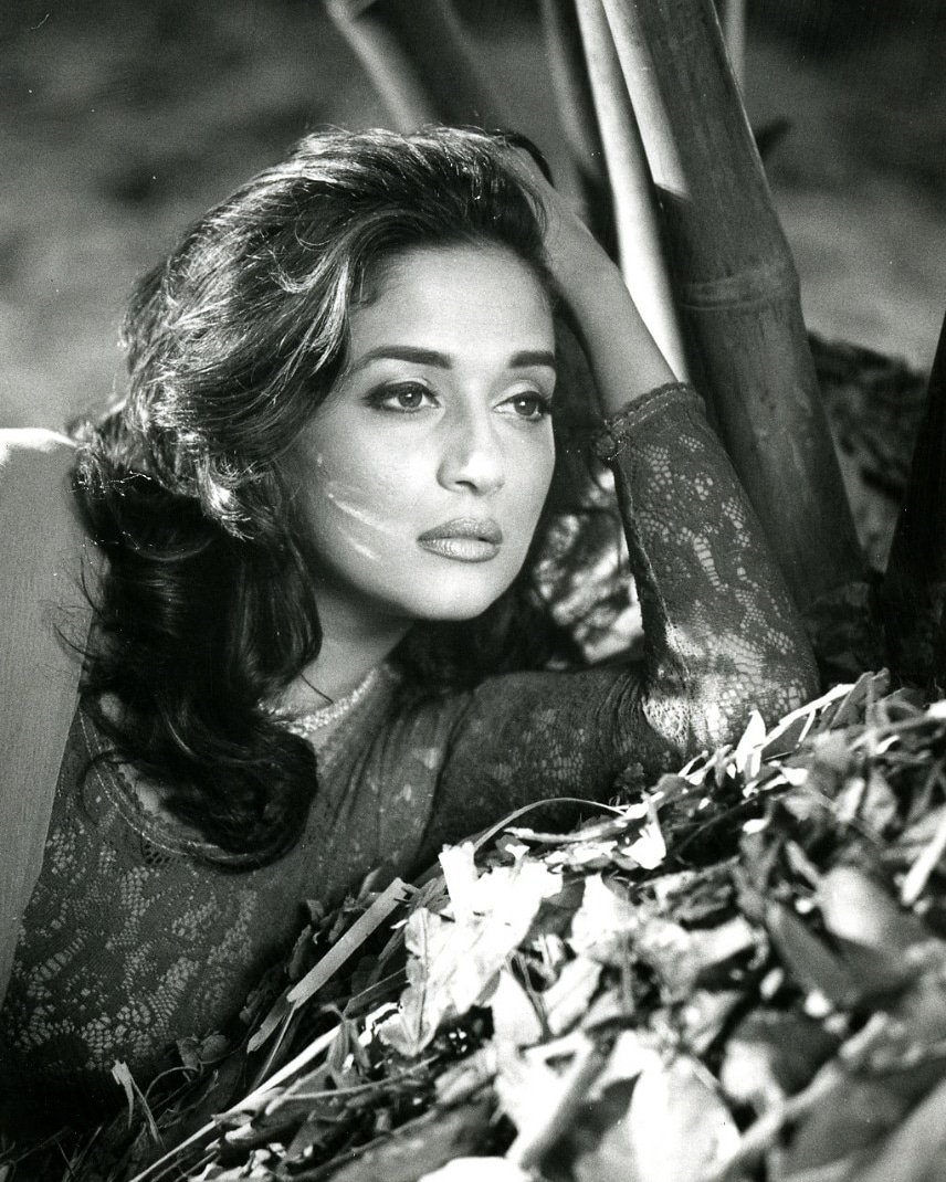 Image result for madhuri dixit black and white